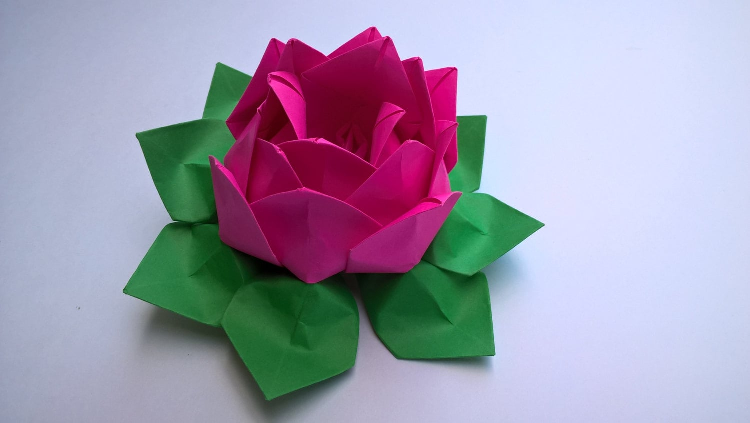 2 Paper Origami Lotus Flower Waterlily You Pick The Color Etsy