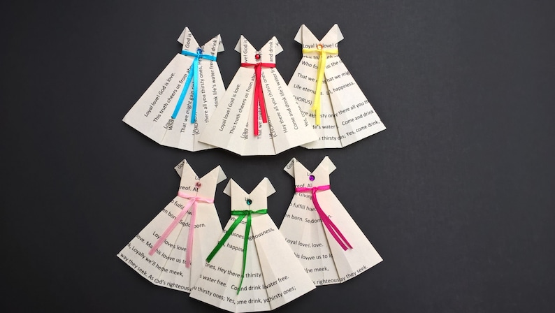 JW Gifts - JW Convention Gifts - JW Pioneer Gifts - Origami dresses with  Kingdom song printed on them - custom song available