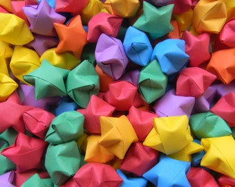 200 Rainbow Origami Paper Stars-Origami Lucky Stars-Origami Stars-Origami Wishing Stars-Origami Wedding favor-Party favor-Star Confetti