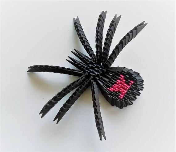 3d Origami Spider Paper Spider Handmade Spider Etsy