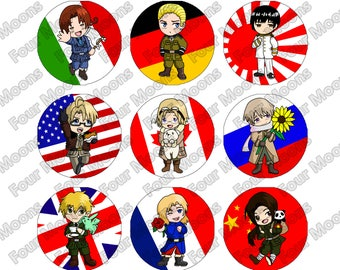 Axis and allies etsy hetalia axis and allies buttons publicscrutiny Images