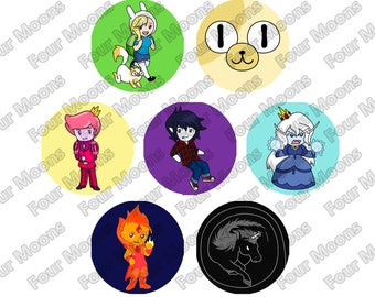 Adventure Time Buttons - Fionna and Cake (Gender-bent) set