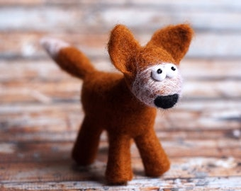 Funny little felt-fox