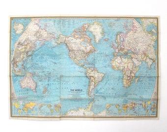 Vintage world map | Etsy