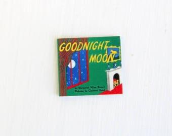 Miniature Goodnight Moon Book, Dollhouse Goodnight Moon Book, Goodnight Moon Book, Goodnight Moon, Miniature Book, Dollhouse Book, Tiny Book