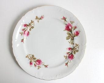 Vintage Dinner Plate, Royal Rose, Royal Rose Dinner Plate, Royal Rose Plate, Pink Rose Dinner Plate, Pink Rose Plate, Floral Plate Pink Rose