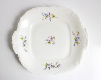 Vintage Plate, Blue Floral Plate, Morning Glory Plate, Morning Glory, Blue Morning Glory, White Plate, Floral Plate, Blue & White Plate