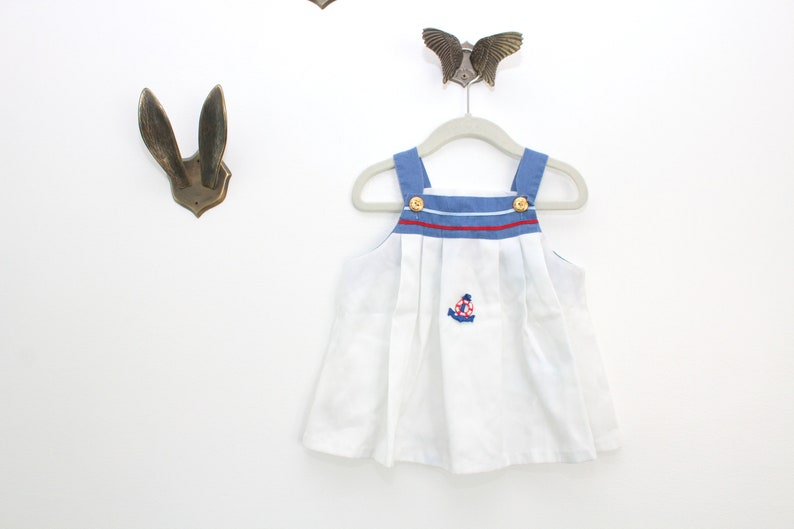 Vintage Girls Dress Girls Sailor Dress Vintage Toddler image 0