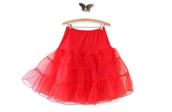 """Vintage Red 26"""" Petticoat, Red Petticoat, Vintage"""