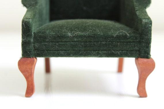 Grune Puppenhaus Stuhl Grune Miniatur Stuhl Grun Samt Stuhl Samt Puppenhaus Stuhl Samt Miniatur Stuhl Puppenhaus Stuhl Miniatur
