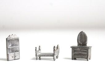 Micro Mini Bedroom Set, Micro Mini Bed, Micro Mini Dresser, Miniature Bedroom Set, Dollhouse Bedroom Set, Micro Mini Furniture, Bedroom