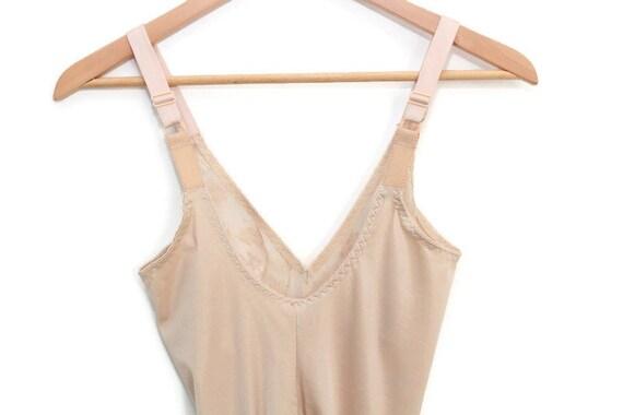 Nude Vintage Slip, Nude Slip, Nude Lace Slip, Ful… - image 8