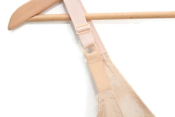 Nude Vintage Slip, Nude Slip, Nude Lace Slip, Ful… - image 9