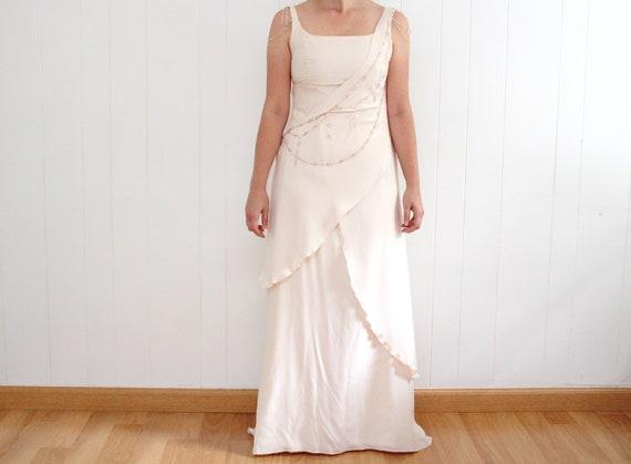 Vintage Wedding Dress, Pink Wedding Dress, Pale Pi