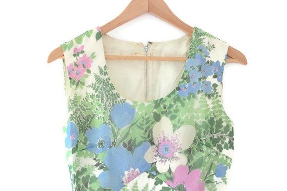 Vintage Dress, Floral Vintage Dress, Maxi Dress, F