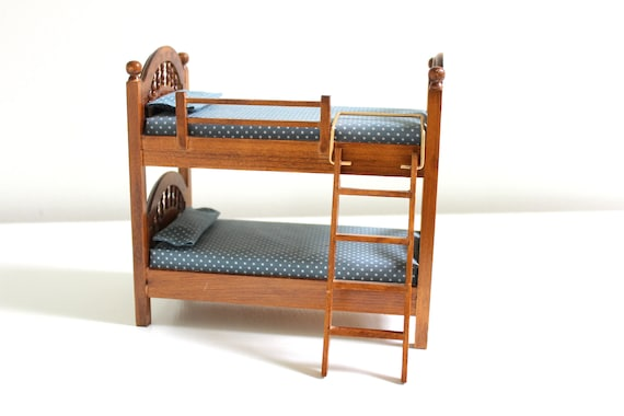 Miniature Bunk Bed Dollhouse Bunk Bed Miniature Bed Etsy