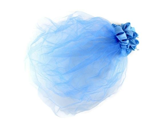 Vintage Veil, Blue Veil Blue Fascinator, Vintage F