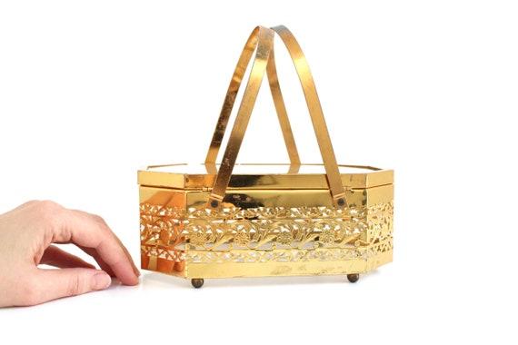 Vintage Brass Box Purse, Vintage Box Purse, Gold … - image 6