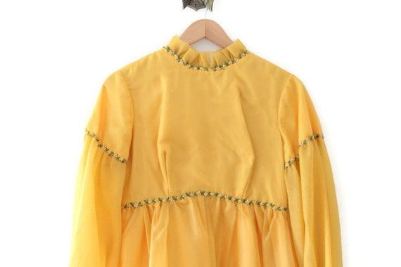 Yellow Dress, Yellow Maxi Dress, Floral Dress, Yel