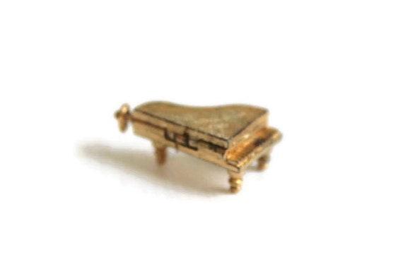Piano Pendant, Piano Charm, Gold Piano Pendant, Go