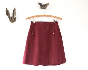 Vintage Skirt, Vintage Burgundy Skirt, Burgundy Skirt, Mini Skirt, Vintage Mini Skirt, Burgundy Mini Skirt, Fall Skirt, Vintage Fall Skirt