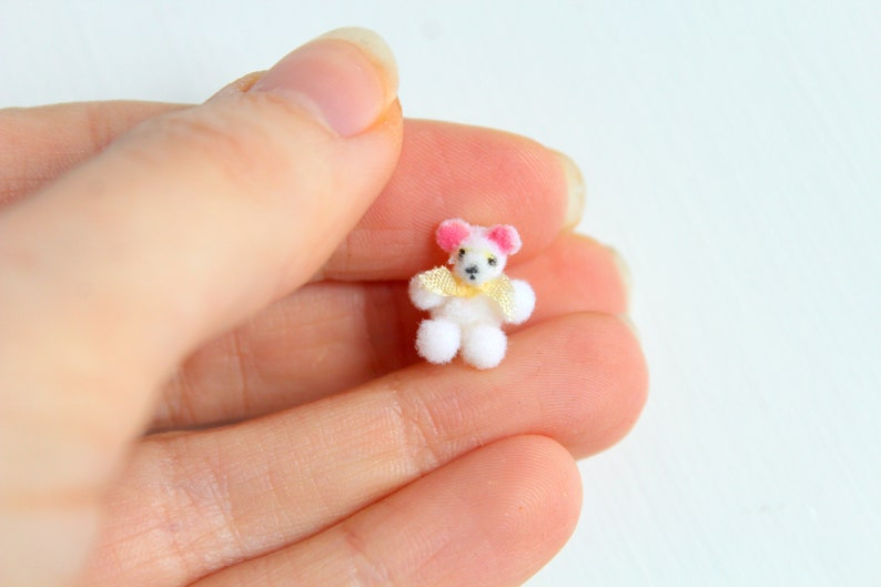 Miniature Bear Dollhouse Bear Micro Mini Bear Miniature image 0