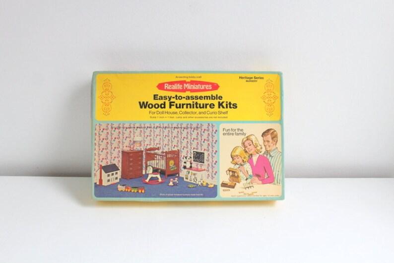Miniature Nursery, Dollhouse Nursery, Miniature Kit, Dollhouse Kit,  Dollhouse Furniture Kit Miniature Furniture Dollhouse Furniture, 6 Items