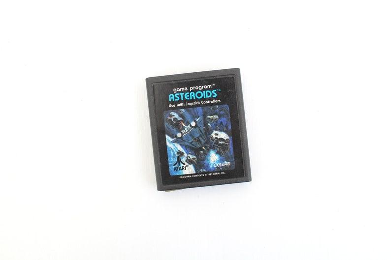 Vintage Asteroids Atari Game Cartridge Asteroids Atari Game image 0