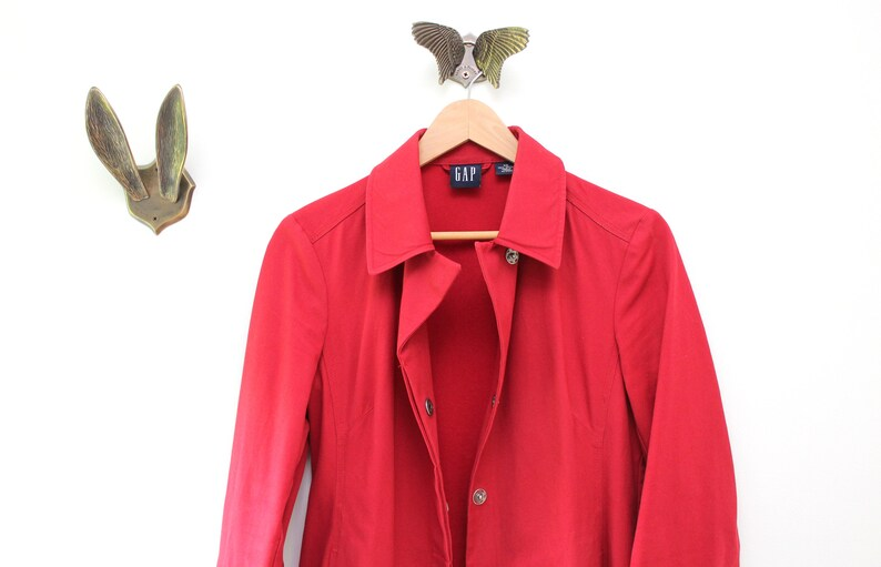 Vintage Red GAP Trench Coat Red Trench Coat Vintage Trench image 0