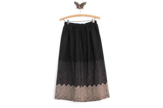 Black Skirt, Black Midi Skirt, Silk Skirt, Silk Mi