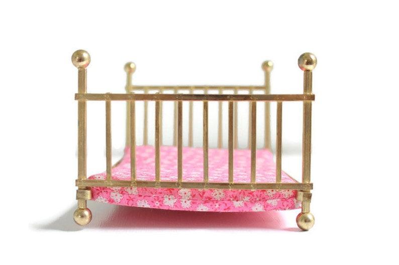 Brass Bed Dollhouse Bedroom Brass Miniature Bed Miniature Brass Bed Brass Dollhouse Bed Dollhouse Bed Brass Dollhouse Bed with Mattress
