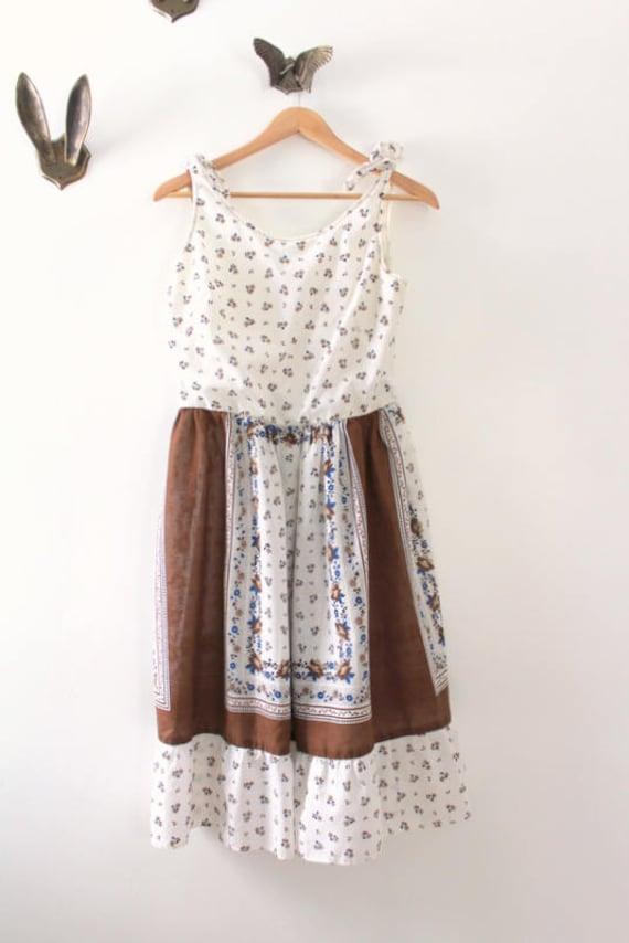 Vintage Dress, Floral Dress, Floral Print Dress, W