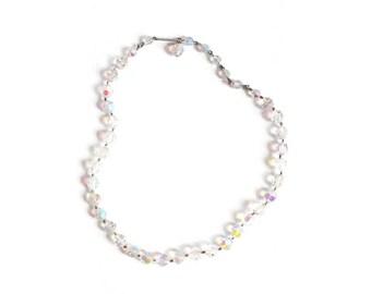 Aurora Borealis Necklace, Crystal Aurora Borealis Necklace, Crystal Necklace, Iridescent Necklace, Rainbow Necklace, Beaded Necklace