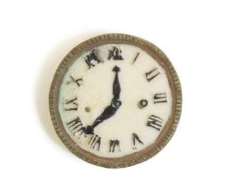 Dollhouse Clock, Miniature Clock, Dollhouse Wall Clock, Miniature Wall Clock, Round Dollhouse Clock, Round Miniature Clock, Tiny Clock
