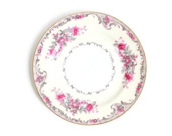 Grace China Corsage Pink Rose Plate, Grace China Plate, Pink Rose Plate, Pink Rose Ring Dish Rose Ring Dish Pink Ring Dish Rose Trinket Dish