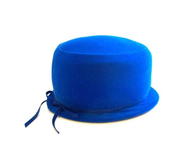 Vintage Hat, Vintage Cloche Hat, Blue Cloche, Blue