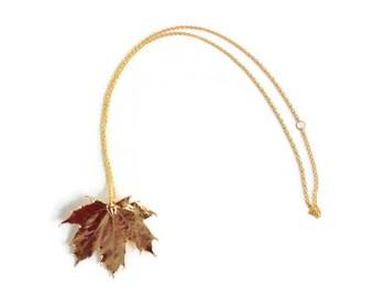 Preserved Leaf Necklace, Gold Leaf Necklace, Maple Leaf Necklace, Real Leaf Necklace, Leaf Necklace, Leaf Jewelry, Preserved Leaf Jewelry