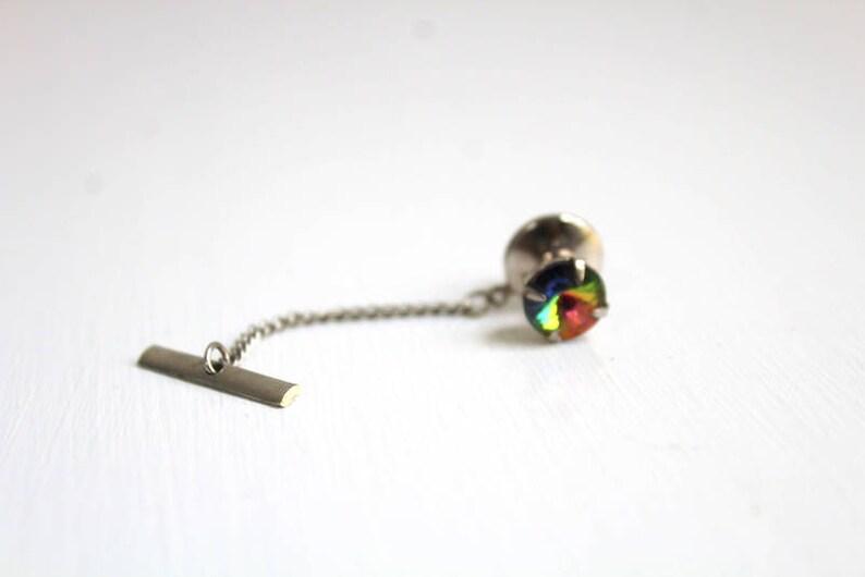 Tie Tack Rainbow Tie Pin Colorful Tie Tack Tie Pin Rainbow Tie Tack Colorful Tie Pin Rhinestone Tie Pin Rhinestone Tie Tack Green