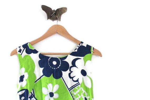 Flower Print Dress, Vintage Dress, Vintage Maxi Dr