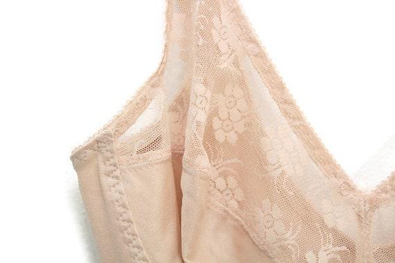 Nude Vintage Slip, Nude Slip, Nude Lace Slip, Ful… - image 3