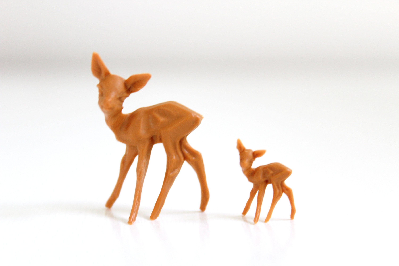 Mama Baby Deer Figurines Deer Figurine Set Deer Figurine Etsy