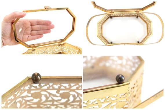 Vintage Brass Box Purse, Vintage Box Purse, Gold … - image 9