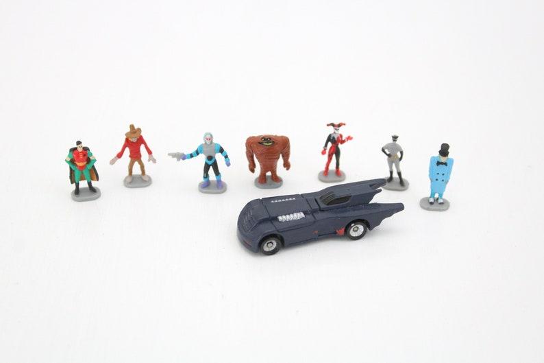 Vintage 8 Piece Micro Machine Batman Set with Batmobile Robin image 0