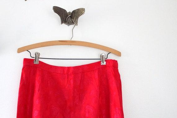 Vintage Skirt, Red Skirt, Pink Skirt, Maxi Skirt,