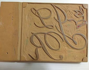 Engraved Linoleum Block for Printing