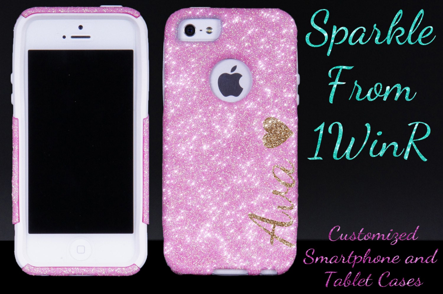 huge selection of 4a997 f7c90 iPhone X iPhone 8/ 8 Plus iPhone 7/7 Plus Personalized Otterbox iPhone 6/6  Plus Case iPhone 5s Otterbox for iPhone 5s - Sparkly Case