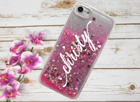 iPhone 8 8 Plus Holographic Floating Glitter Case iPhone X  1de257b5a1a9