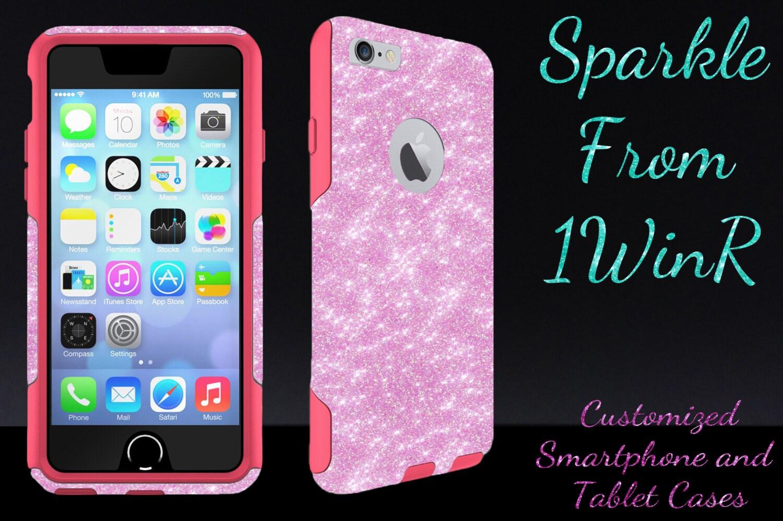 new concept 7f592 f61cc iPhone X - iPhone 8/8 Plus - iPhone 7/7 Plus OTTERBOX Custom iPhone 6/6  Plus - Commuter Glitter Case for 4.7
