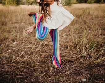 Pastel Rainbow Bell Bottoms