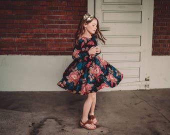 Girls Paisley Floral Bespoke Dress